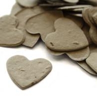 Heart Shaped Plantable Confetti - Stone Grey