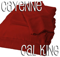California King Bamboo Sheet Set in Cayenne