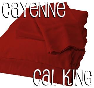 California King Bamboo Sheet Set in Cayenne