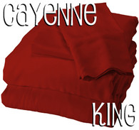 King Size Bamboo Sheet Set in Cayenne