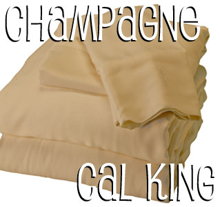 California King Bamboo Sheet Set in Champagne