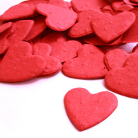 Heart Shaped Plantable Confetti in Bright Red