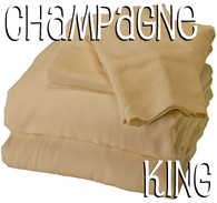 King Size Bamboo Sheet Set in Champagne
