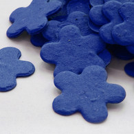 Flower Shaped Plantable Confetti in Royal Blue