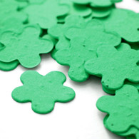 Flower Shaped Plantable Confetti - Pastel Green