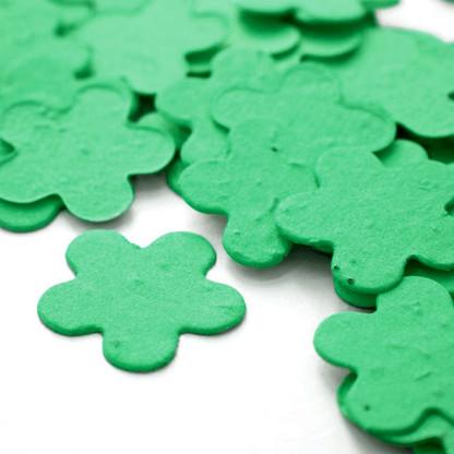 Flower Shaped Plantable Confetti - Pastel Green