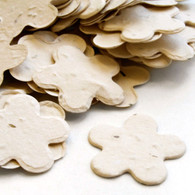 Flower Shaped Plantable Confetti - Cream