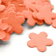 Flower Shaped Plantable Confetti - Coral