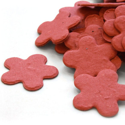 Flower Shaped Plantable Confetti - Brick Red