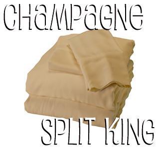 Split King Bamboo Sheet Set in Champagne