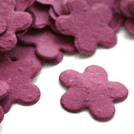 Flower Shaped Plantable Confetti - Berry Purple
