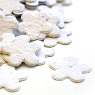 Flower Shaped Plantable Confetti - White