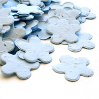 Flower Shaped Plantable Confetti - Blue