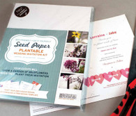 Do It Yourself Seeded Paper Wedding Invitation Kit