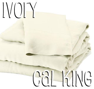 California King Bamboo Sheet Set in Ivory