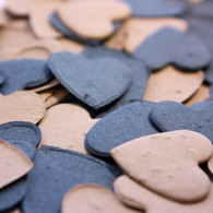 Blue & Brown Heart Shaped Plantable Seeded Paper Confetti Set