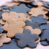 Blue & Brown Flower Shaped Plantable Seeded Paper Confetti Set