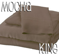 King Size Bamboo Sheet Set in Mocha Brown