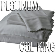California King Bamboo Sheet Set in Platinum