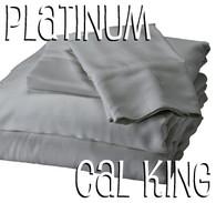 California King Bamboo Sheet Set in Platinum