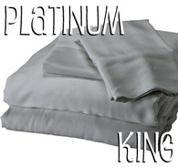 King Size Bamboo Sheet Set in Platinum