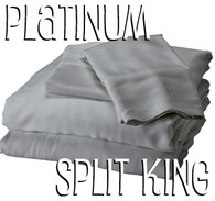 Split King Bamboo Sheet Set in Platinum