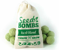 9 Herb Blend Seed Bombs in Muslin Bag