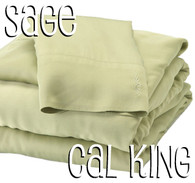 California King Bamboo Sheet Set in Sage Green