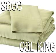 California King Bamboo Sheet Set in Sage Green