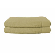 Champagne Brown Bamboo Hand Towels (Set of 2)