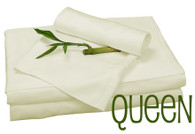 Queen Bamboo Sheet Set in Ivory, Eco Friendly Hypoallergenic