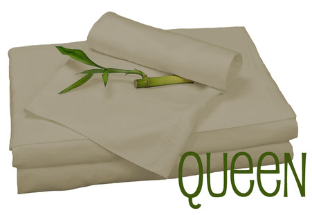 Queen Bamboo Sheet Set in Champagne, Eco Friendly Hypoallergenic