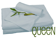 Queen Bamboo Sheet Set in Sky Blue, Eco Friendly Hypoallergenic