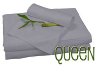 Queen Bamboo Sheet Set in Platinum, Eco Friendly Hypoallergenic