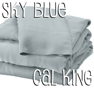 California King Bamboo Sheet Set in Sky Blue