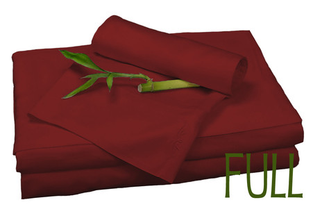 Full Bamboo Sheet Set in Cayenne, Eco Friendly Hypoallergenic