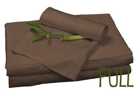 Full Bamboo Sheet Set in Mocha, Eco Friendly Hypoallergenic