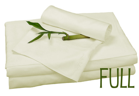 Full Bamboo Sheet Set in Ivory, Eco Friendly Hypoallergenic