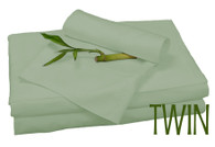 TWIN BAMBOO SHEET SET IN Sage, ECO FRIENDLY HYPOALLERGENIC