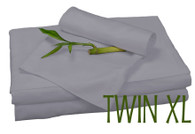 TWIN XL BAMBOO SHEET SET IN Platinum, ECO FRIENDLY HYPOALLERGENIC