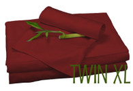 TWIN XL BAMBOO SHEET SET IN Cayenne, ECO FRIENDLY HYPOALLERGENIC