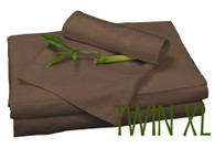 TWIN XL BAMBOO SHEET SET IN Mocha, ECO FRIENDLY HYPOALLERGENIC