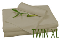TWIN XL BAMBOO SHEET SET IN Champagne, ECO FRIENDLY HYPOALLERGENIC