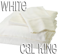 California King Bamboo Sheet Set in White