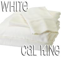 California King Bamboo Sheet Set in White
