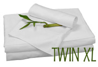 TWIN XL BAMBOO SHEET SET IN White, ECO FRIENDLY HYPOALLERGENIC