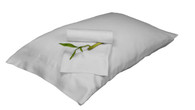 White 100% Bamboo Pillowcase Set Eco Friendly Hypoallergenic