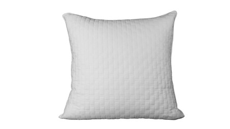 White 100% Bamboo Quilted Euro Sham with 100% Poly Fill