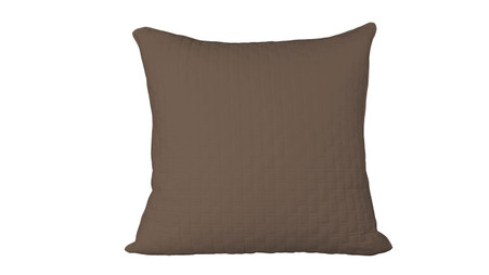 Mocha Brown 100% Bamboo Quilted Euro Sham with 100% Poly Fill