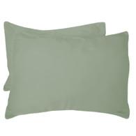 Sage Green 100% Bamboo Standard Shams - Hypoallergenic, Eco Friendly - Set of 2